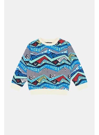 Nebbati Erkek Çocuk Desenli Sweatshirt  Renkli